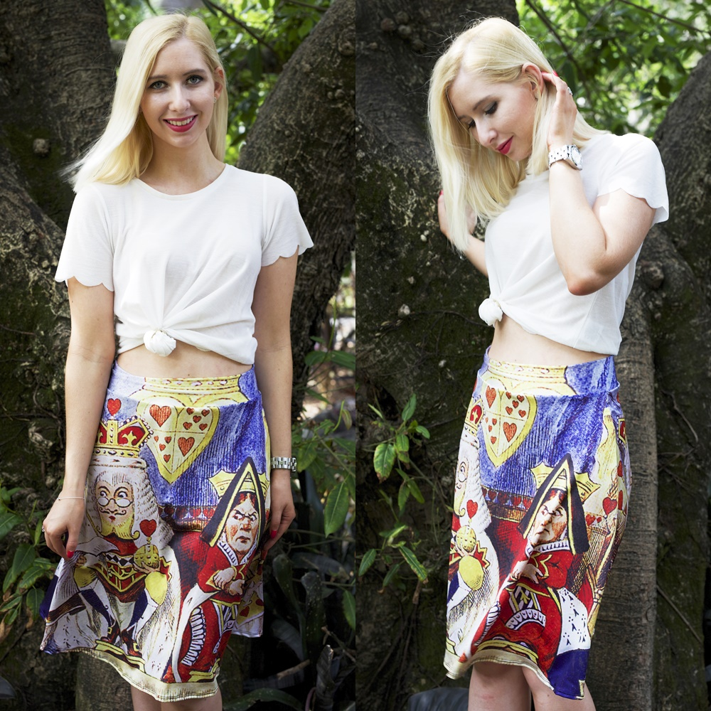 King And Queen Of Hearts Midi Skirt
