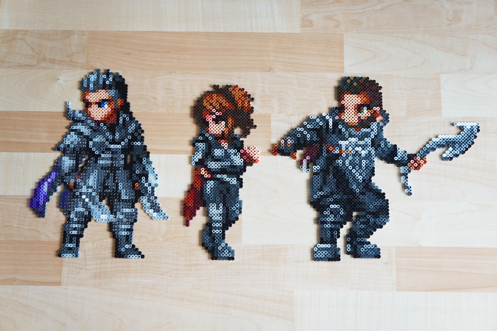 Kingsglaive: Final Fantasy XV - Beads Art - Nyx, Crowe & Libertus