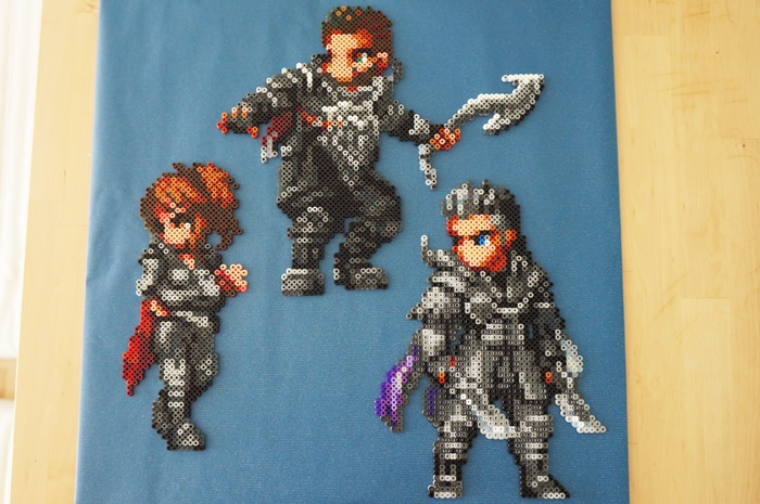 Kingsglaive: Final Fantasy XV - Beads Art - with background