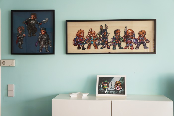 Kingsglaive: Final Fantasy XV - Beads Art - on my wall in the living room