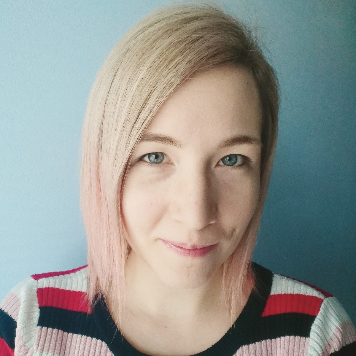 Pink pastel ombre hair